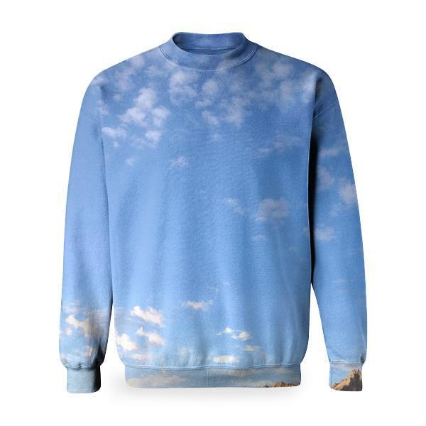 Road Nature Sky Rocks Basic Sweatshirt