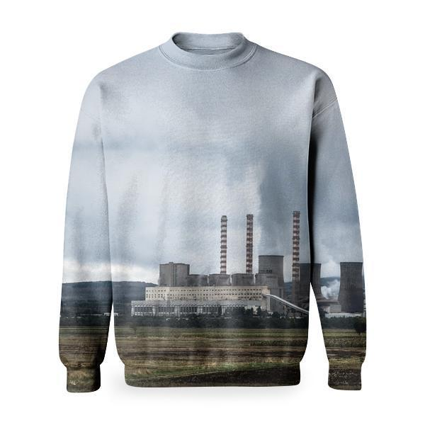 Power Plants During Day Time Basic Sweatshirt
