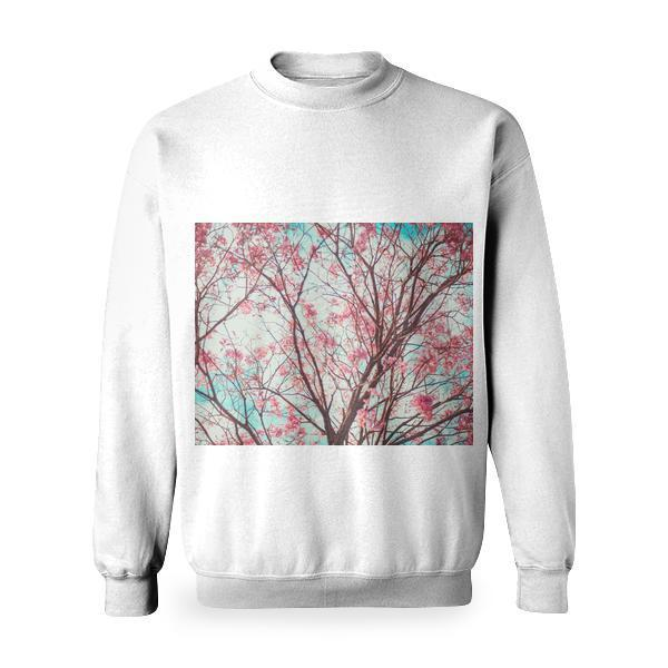 Low Angle View Of Bare Tree Against Sky Basic Sweatshirt