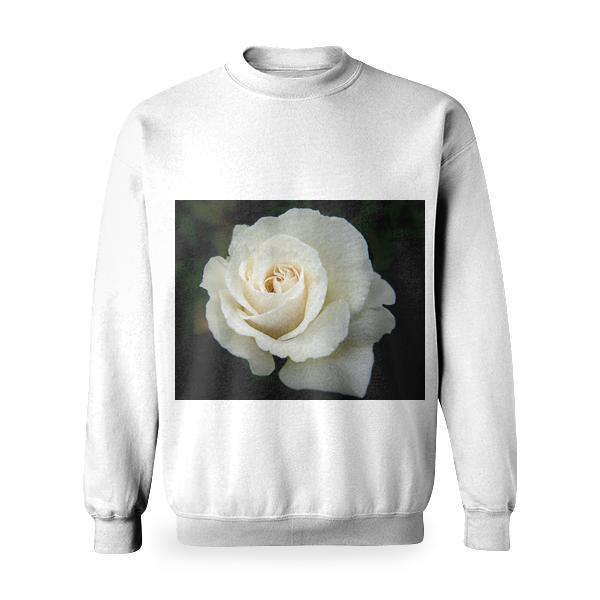 White Rose Basic Sweatshirt