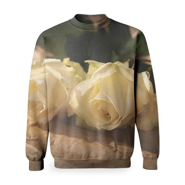 White Roses Basic Sweatshirt