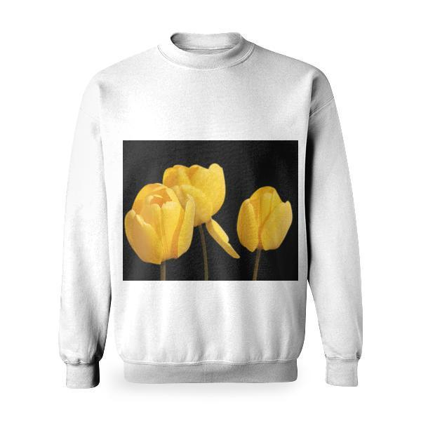 Yellow Flower Basic Sweatshirt