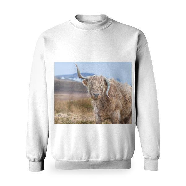 Tilt Shift Photography Of Brown With Horns Legged Animal At Daytime Basic Sweatshirt