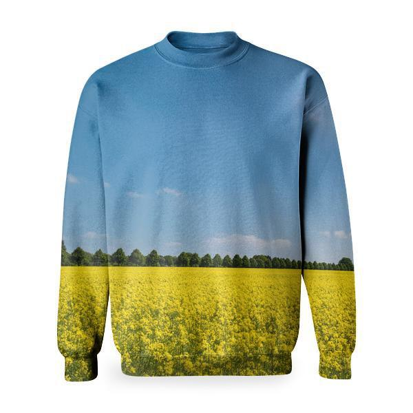 Yellow Petaled Flower On Ground During Daytime Basic Sweatshirt
