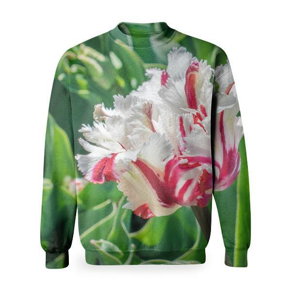 White And Red Flower During Day Time Basic Sweatshirt