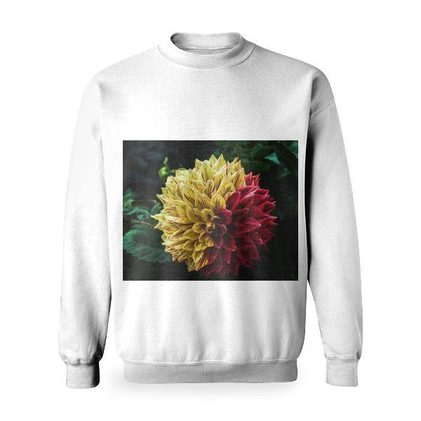 Yellow Red Petal Flower Basic Sweatshirt
