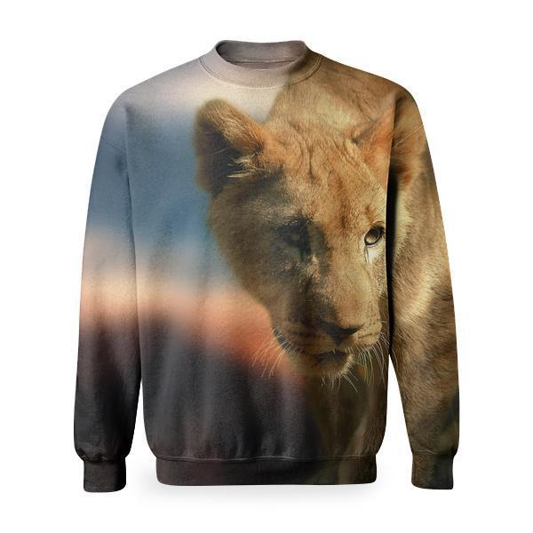 Zoo Tiger Lion Wild Basic Sweatshirt