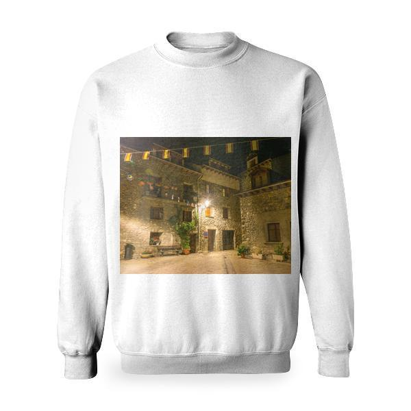 Brown And Gray Concrete Storey House Basic Sweatshirt