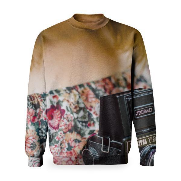 Woman Holding Black Nomo Vintage Camera Basic Sweatshirt