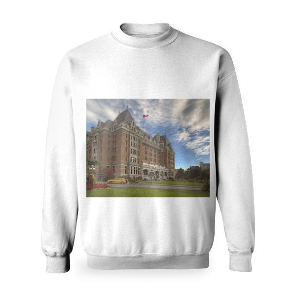 Brown White And Gray Building Basic Sweatshirt