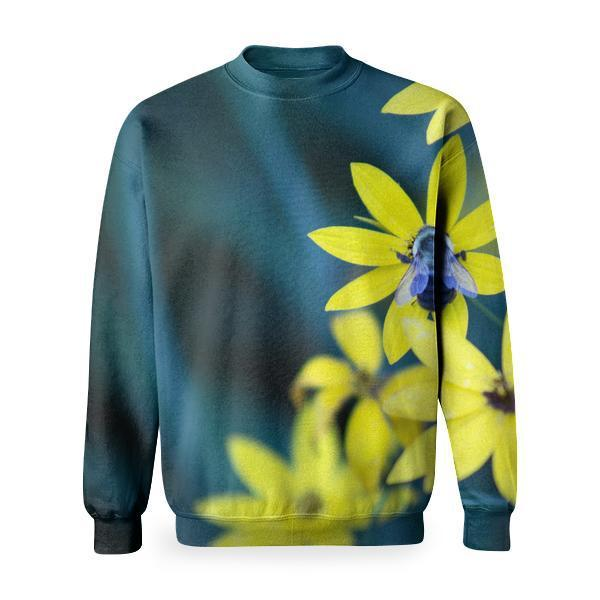 Yellow Petal Flowers Basic Sweatshirt