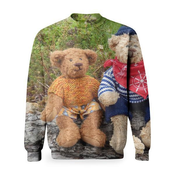 2 Brown Teddy Bear Basic Sweatshirt