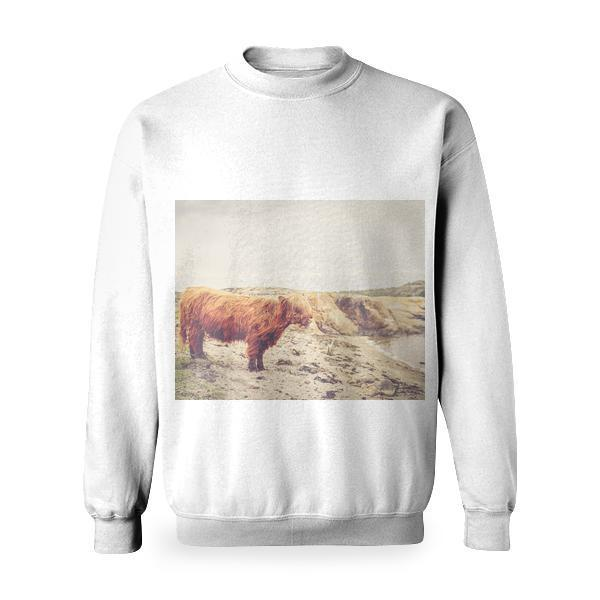 Sand Animal Bull Cow Basic Sweatshirt