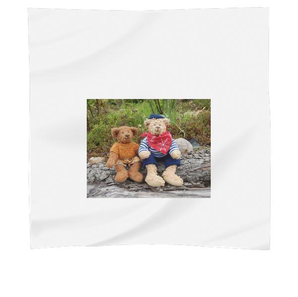 2 Brown Teddy Bear Scarf