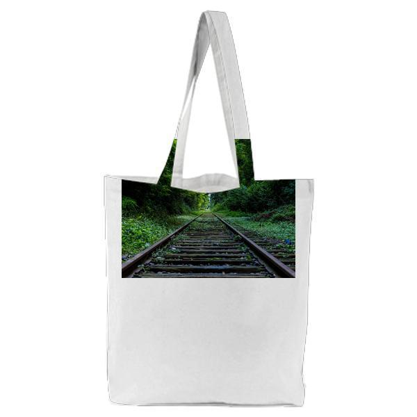 Nature Forest Industry Rails Tote Bag