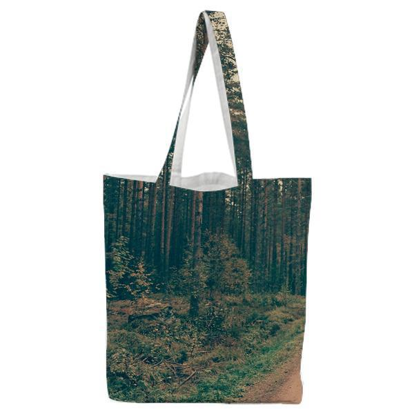 Brown Dirt Road Between Green Leaved Trees During Daytime Tote Bag