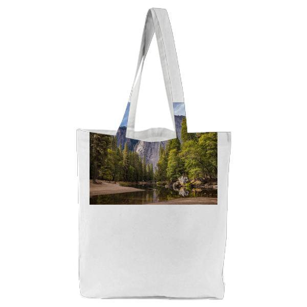 Landscape Nature Water Rocks Tote Bag