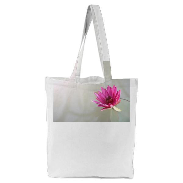 Pink Lutos Flower Tote Bag
