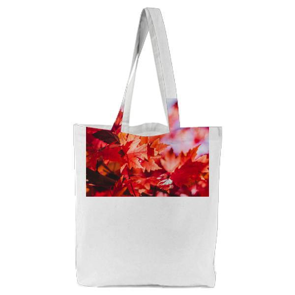 Photography Of Maple Leaves Tote Bag