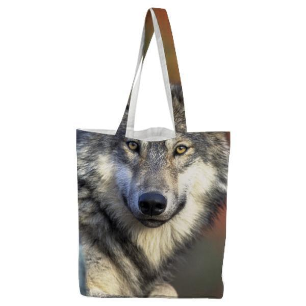 Nature Animal Wolf Wilderness Tote Bag