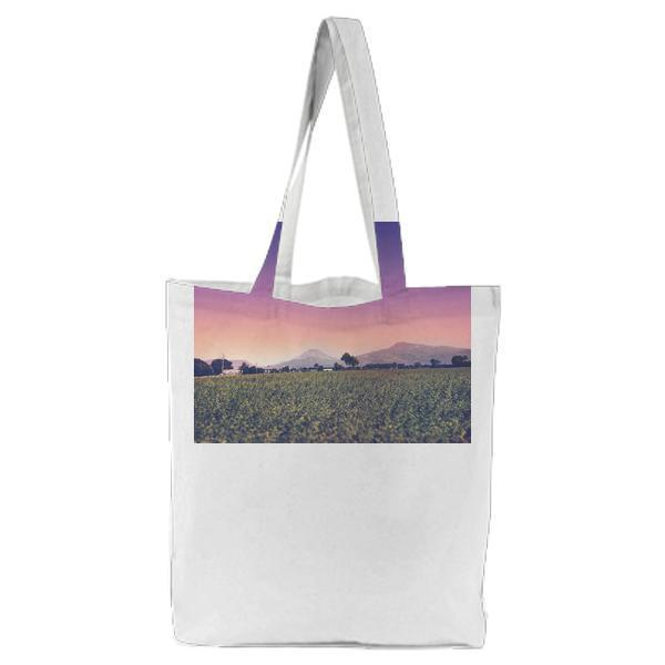 Dawn Landscape Nature Sky Tote Bag