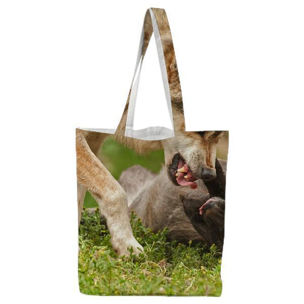 Nature Animal Playing Wilderness Tote Bag