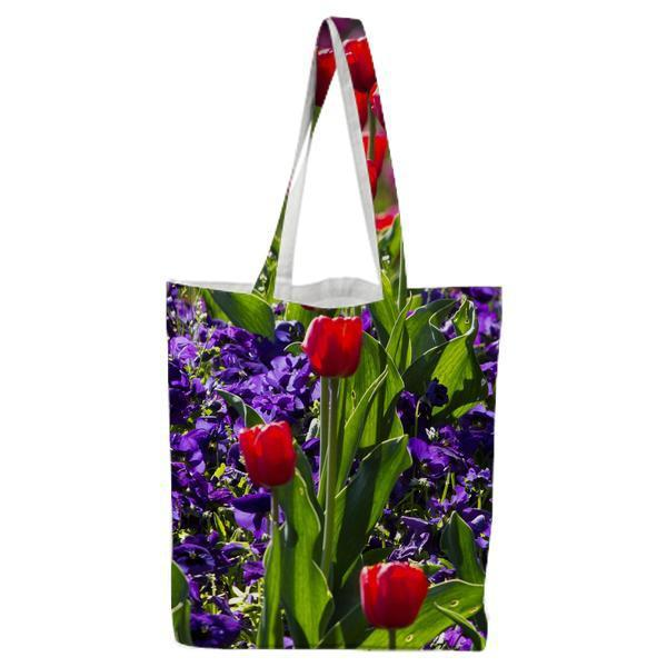 Tulips Flower With Green Leaves During Daytime Tote Bag