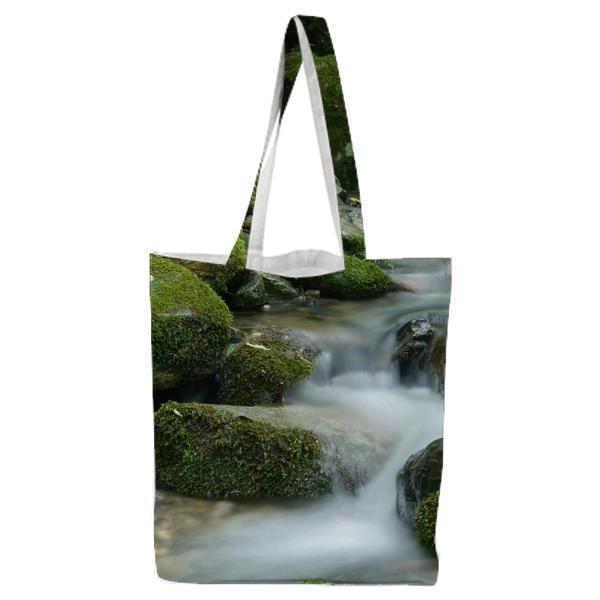 River In Time Lapse During Daytime Tote Bag
