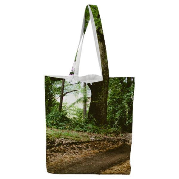 Nature Forest Trees Path Tote Bag