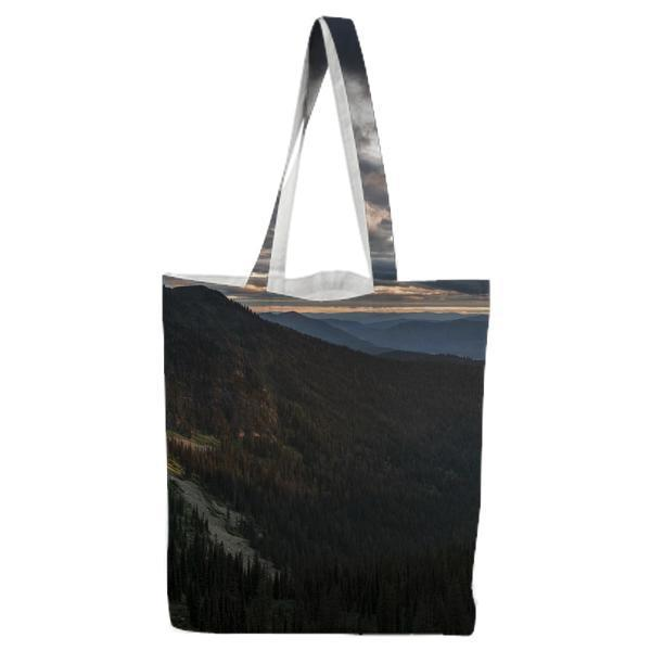 Green Mountain Fill With Tree During Daytime Tote Bag