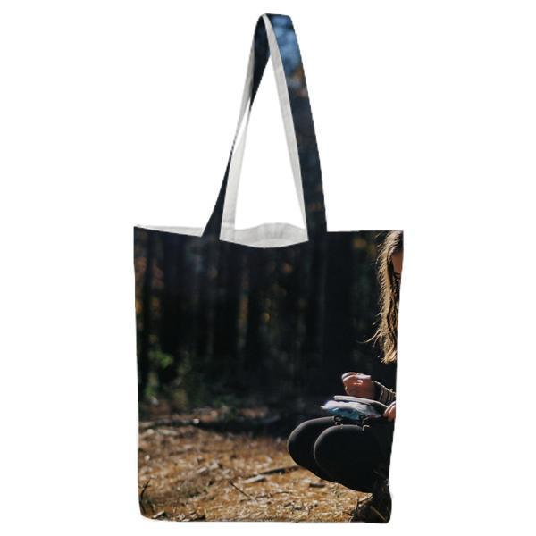 Nature Person Forest Relaxing Tote Bag