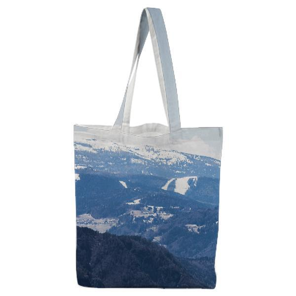 Mountains Nature Man Flying Tote Bag