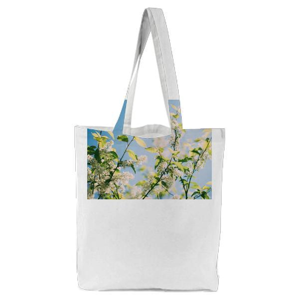 Nature Flowers Branches Plant Tote Bag