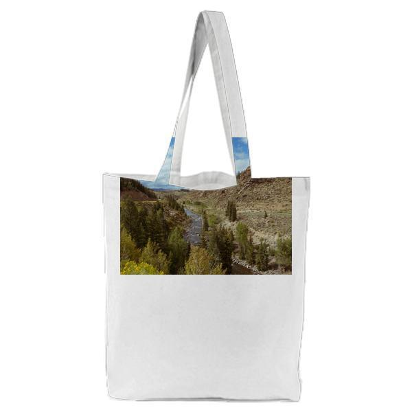 Park With Green Leaf Trees Lake During Daytime Tote Bag