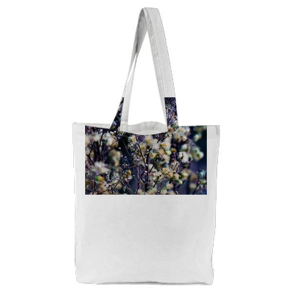 Nature Field Flowers Blur Tote Bag