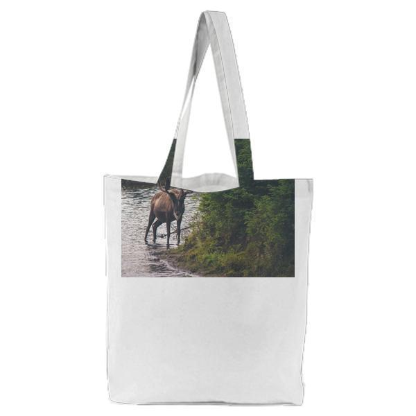 Nature Animal River Deer Tote Bag