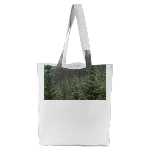 Green Leaf Trees In A Winter Season During Daytime Tote Bag