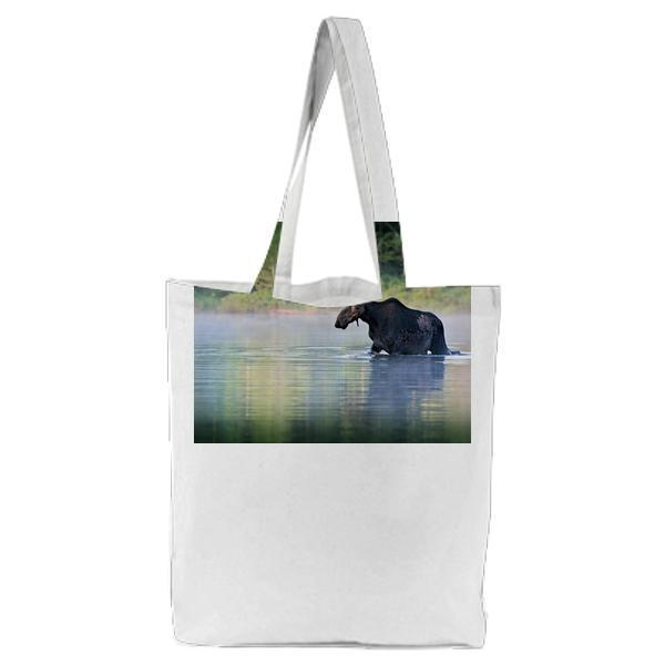 Nature Water Forest Animal Tote Bag