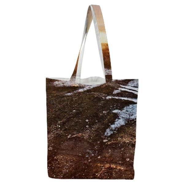 Nature Sunset Field Sunrise Tote Bag