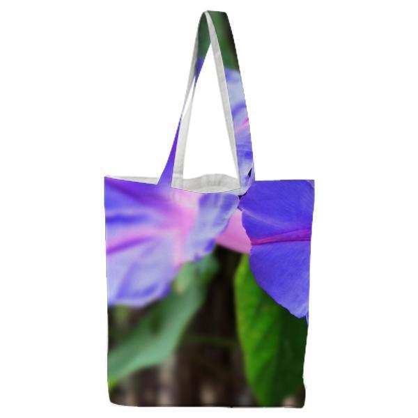 2 Blue Flowers During Daytime Tote Bag