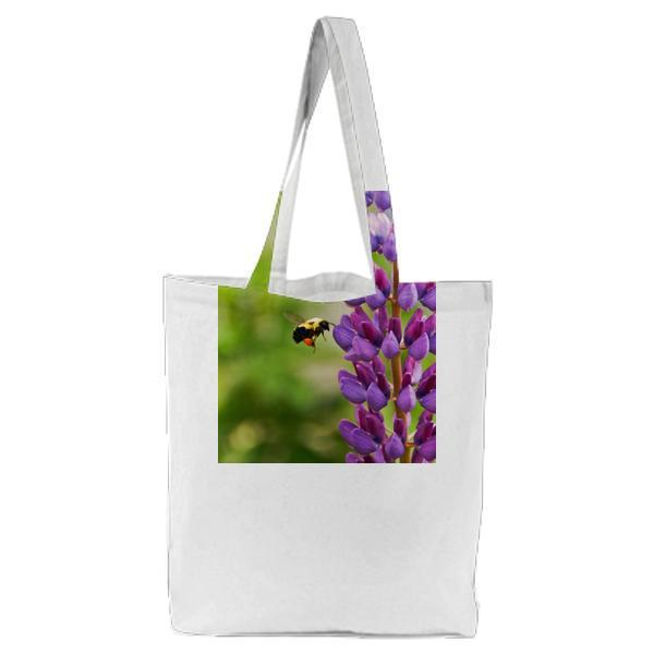 Nature Flying Summer Purple Tote Bag