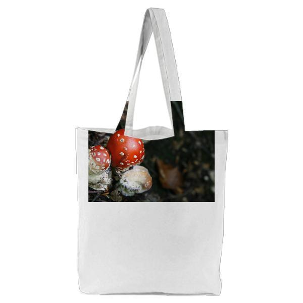 CloseUp Of Fly Agaric Mushroom Tote Bag