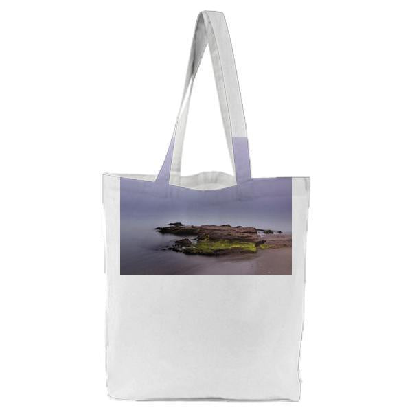 High Angle Photo Of Brown And Green Island Tote Bag