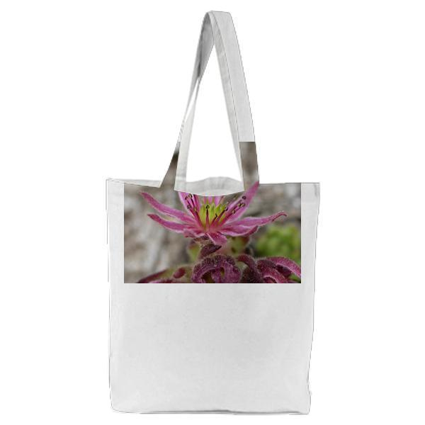 Purple Petaled Plant Tote Bag
