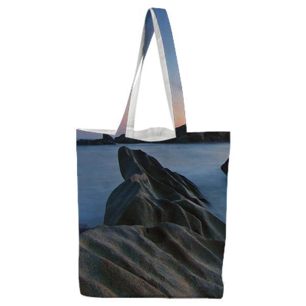 Ocean View On Sunset Tote Bag