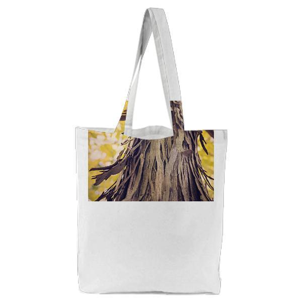 Nature Forest Tree Bark Tote Bag