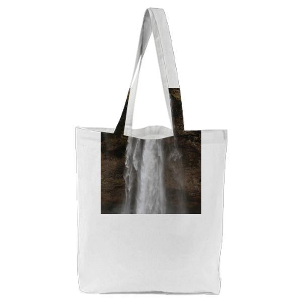 Nature Water Rocks Waterfall Tote Bag