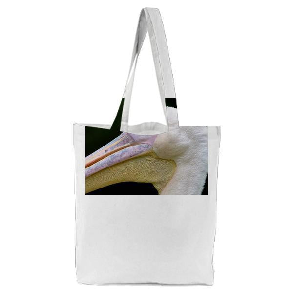 White Yellow And Pink Pelican Tote Bag