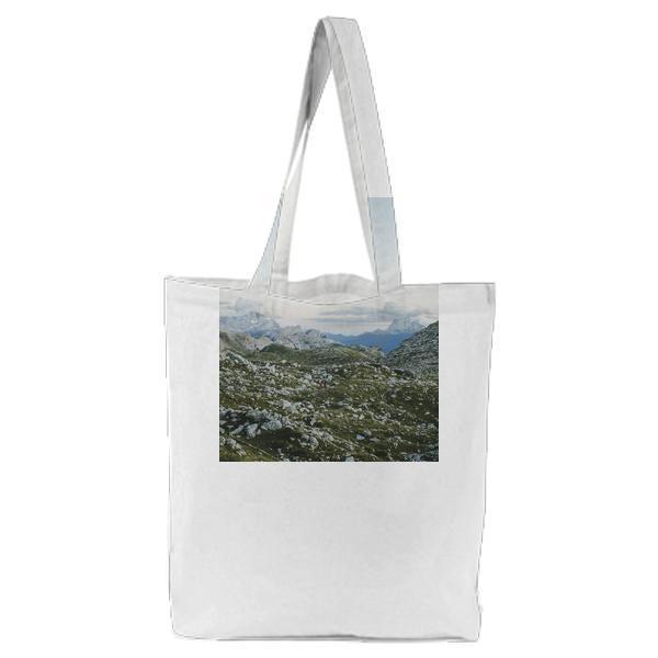 Aerial View Of Green Mountain Top Tote Bag