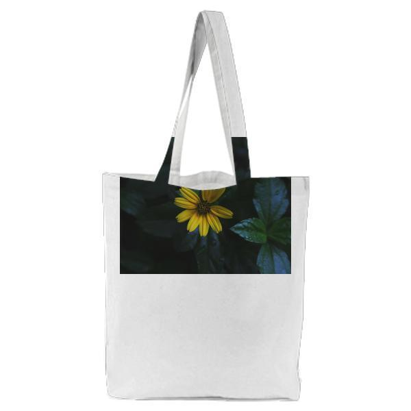 Yellow Daisy Flower Tote Bag